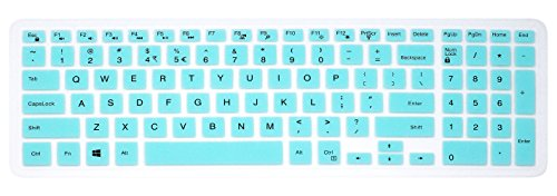 Elastic Silicone Keyboard Cover Skin for 15.6 inch Dell Inspiron 15 3000 & 5000 Series, 17.3 inch Dell Inspiron 17 5000 Series, Inspiron 15 i3541 i5566, Inspiron 17 i5749 Series Laptop (Mint Green)