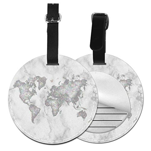 Luggage Tags World Map Earth Globe Suitcase Luggage Tags Business Card Holder Travel ID Bag Tag