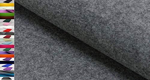 StoffBook Stabiler BASTELFILZ TASCHENFILZ Stoff CA. 5MM Stoffe, D243 (Graumelange)