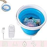 Grist CC Tragbare Ultraschall Turbine Waschmaschine, Faltbar USB Mini Waschautomat, Gemüse Obst Kleider Wäsche Eimer, 30 Minuten Timer Herunterfahren