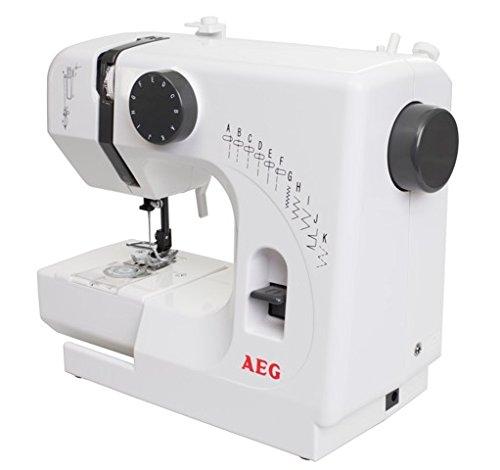 AEG NM 100/10K Mini-Nähmaschine, PVC, weiß, 29 x 13 x 24 cm