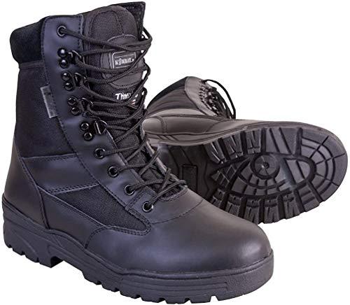 Kombat UK Herren Halb Leder/Halb Cordura Patrol Boots, Größe 9, Schwarz