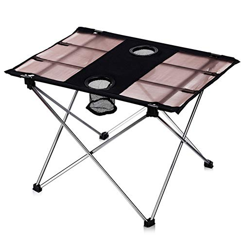 Apxzc Campingtafel van aluminium, draagbaar, opvouwbaar, voor buiten, Oxford-stof, scheurvast, robuust en scheurvast, voor kamperen, wandelen, strand, barbecue