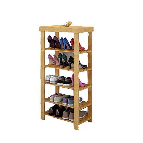ZAIHW Zapatero Bambú Multicapa Simple Hogar Tipo económico Ensamblaje de Caja de Zapatos (Tamaño: 70 CM)