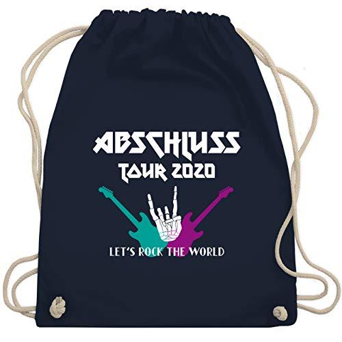 Shirtracer Abi & Abschluss - Lets Rock Abschluss 2020 - Unisize - Navy Blau - Geschenk - WM110 - Turnbeutel und Stoffbeutel aus Baumwolle