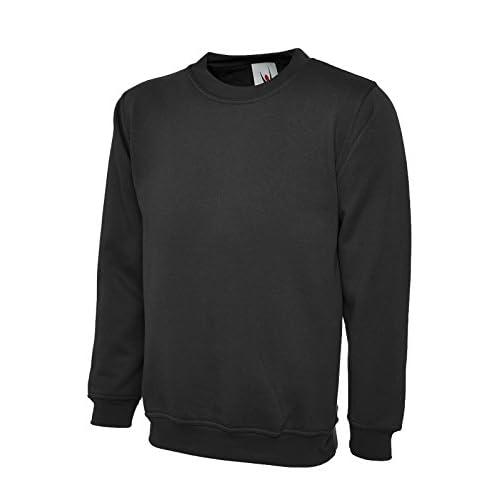 41DYrz0GcAL. SS500  - Uneek 300g Plain Classic Crewneck Sweatshirt