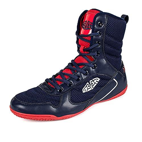 WJFGGXHK Męskie buty do zapaśnika, gumowa podeszwa buty bokserskie wysokie góra buty bokserskie dla kobiet i dzieci nastolatek, czerwone, 42