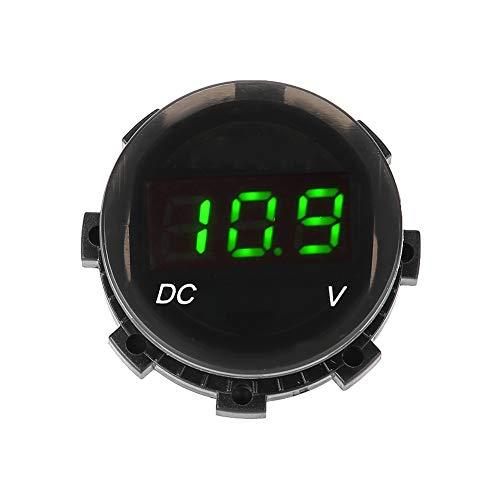 Yagosodee Voltímetro LED con pantalla digital de voltaje y calibre de panel para coche, moto, SUV, ATV, barco, modificado (verde)