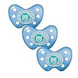 Dentistar® Night Silikon-Schnuller - Größe 3 - ab 14 Monaten - Baby Nacht Leuchtschnuller - Nuckel leuchtend im Dunkeln - zahnfreundlich - Made in Germany - BPA frei - Loewe dunkelblau