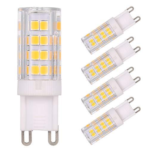 Tomshine 5er Pack 5W G9 LED Lampe 400 Lumen Warmweiß 3000K 51x2835 SMD ersetzt 45W Halogenlampen NICHT Dimmbar [Energieklasse A+]