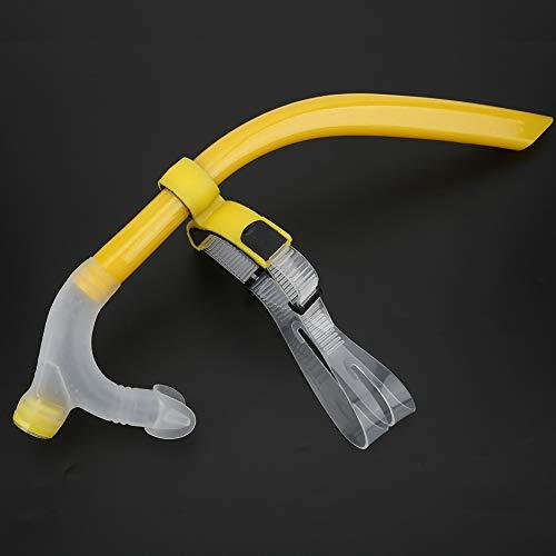 Nunafey Tubo de Buceo, Tubo de respiración subacuático para Principiantes, Buceo de natación, Cómodo para Nadar Equipo de Snorkel Dispositivo para Practicar Snorkel(Yellow)