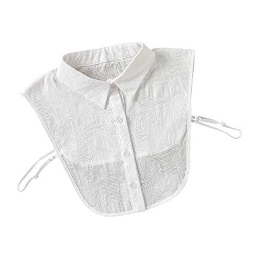 Non-brand Elegante Damen Faux Collar Solid Abnehmbares Baumwollhemd Dickey Collar