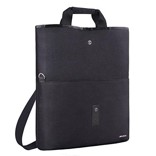 MOSISO Laptop Tote Bag, passt bis zu 13,3 Zoll MacBook Notebook, vielseitige Cabrio Office Aktentasche Umhängetasche Handtasche Crossbody für Reisen Shopping Duffel Arbeit Schule, Weinrot Schwarz