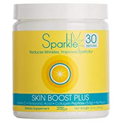 CLINICALLY PROVEN - Including key nutritional ingredients that have been clinically proven to boost the skin's collagen levels by up to 60%, Sparkle Skin Boost Plus is an excellent addition to your superfoods morning smoothie that gives many benefits...