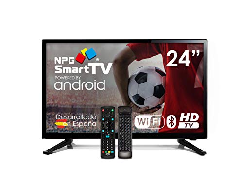Televisor LED 24' NPG Smart TV Android + Smart Control QWERTY/Motion. HD PVR WiFi Bluetooth TDT2 H.265