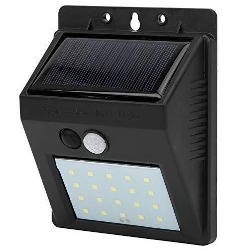 Xinwoer wasserdichte 20LED-Wandleuchte, kabellose Solarsensor-Wandleuchte, solarbetriebenes Schwarz für die Garten-Haustür im Freien