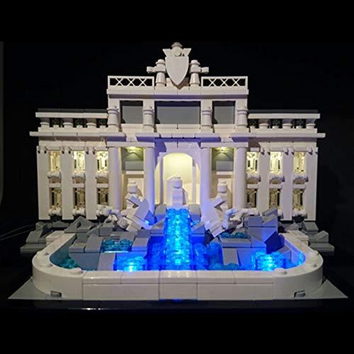 LED Beleuchtungsset für Lego Architecture Trevi Brunnen, Beleuchtung Licht Kompatibel mit Lego 21020 (Lego-Modell Nicht Enthalten)