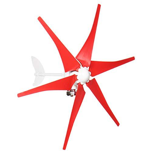 SISHUINIANHUA Efficiet 8000W 12V / 24V 3/5/6 Blades Wind Generator Wind-Turbinen-Generator-Windmühle Energieanlagen Gebühr Für Home Camping,12v,6