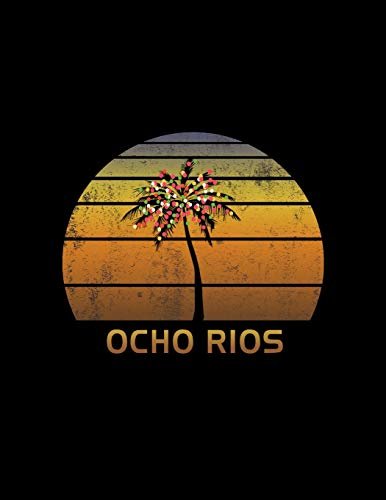 Ocho Rios: Christmas Journal Notebook With Retro Jamaican Sunset. Complete Shopping Organizer Holiday Food Meal Party Planner Budget Expense Tracker With Soft Cover 8.5 x 11, 120 Pages.
