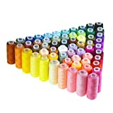 (60pcs) - Candora 60 Colours Sewing Thread Coil 250 Yards Each Polyester All Purpose for Hand and Machine Sewing (60pcs)