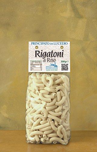 Principato di Lucedio - PASTA di RISO - RIGATONI - 500 g - Sacchetto in Cellophane con Atmosfera Protettiva