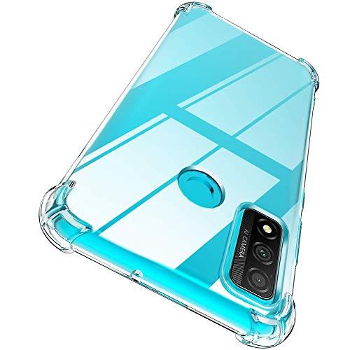Garegce Coque Compatible avec Huawei P Smart 2020, 2 Pack Verre trempé Protecteur écran, Transparente Silicone Antichoc Bumper Cover Compatible avec Huawei P Smart 2020 6.21 Pouces - Clair