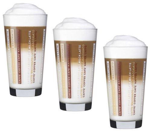 Bormioli Rocco 390390 Sestriere Latte Macchiato Kaffeeglas, 370ml, Glas, transparent, 12 Stück