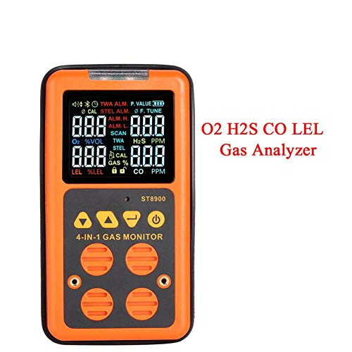DZSF 4 in 1 Digital LCD Gas-Detektor-Monitor O2 H2S CO LEL Gas Analyzer Air Quality Monitor Gastester Kohlenmonoxid-Messgerät