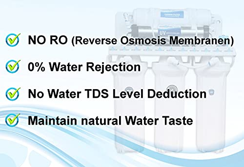 Aquadpure 5 Stage Electrical Under sink and Wall Mounted UV Water Purifier (No TDS Reduction, No wastage and No RO) 35L