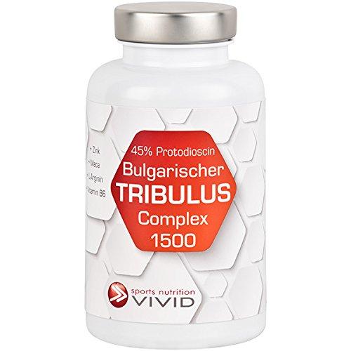 Bulgarischer Tribulus Complex 1500, hochdosiertes Tribulus Extrakt für mehr Kraft, mehr Muskeln, mehr Pump, mehr Ausdauer, DAS Supplement für alle Kraftsportler, die mehr wollen, 120 Kapseln