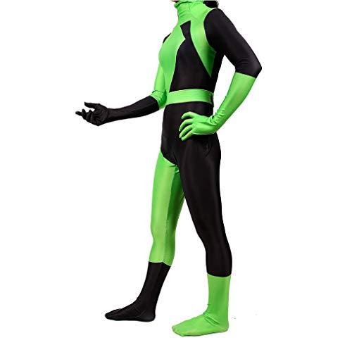 KIDsportxie Kim Possible Animated Series Kostüm Frauen schero Abendkleid Mädchen Bodysuit Halloween-Party-Overall Masquerade Hoodie Weihnachten Outfits,Kids (95~115cm)