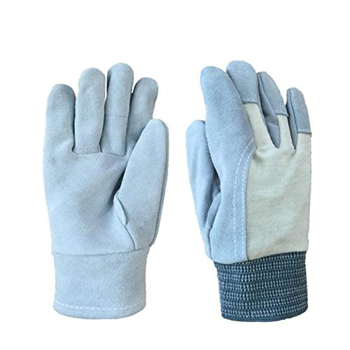 VLHVAQ DFRXK-HM Gartenhandschuhe Handschuhe Gartenarbeit Versicherung rutschfeste Schweißen Baumwollstoff Stitching Geeignet für Home Exterior Multifunktions-Arbeitshandschuhe