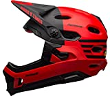 BELL Super DH MIPS Casco para Bicicleta de montaña, Unisex Adulto, Rojo Mate y Negro Brillante, S | 52-56cm
