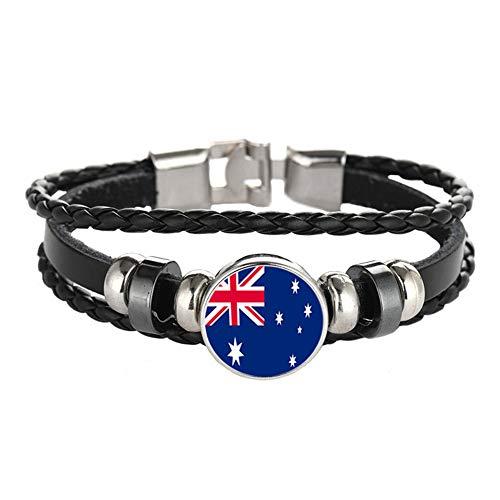Armband im Nationalflaggen-Stil, kreatives Australien-Reise-Souvenir-Geschenk, personalisiertes gewebtes Armband, Zubehör für Männer und Frauen