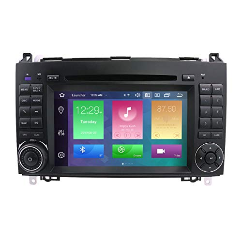 hizpo Android 10 Car DVD GPS Stereo 7 Inch Touch Screen Bluetooth Car Radio for Mercedes W906 Sprinter/V-Class W639/Vito/Viano/B-Class W245 B160 B170 B180/B200/A-Class W169/A150/A160/A170/A180/A200