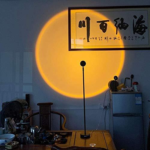 WHZWH Luz de Suelo de proyección de Arco Iris, lámpara de proyección de Puesta de Sol, para Sala de Estar, Dormitorio, proyector...