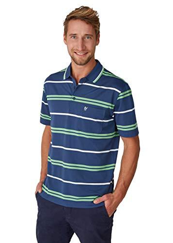 hajo Polo & Sportswear Herren Funktions-Poloshirt mit Ringelmuster