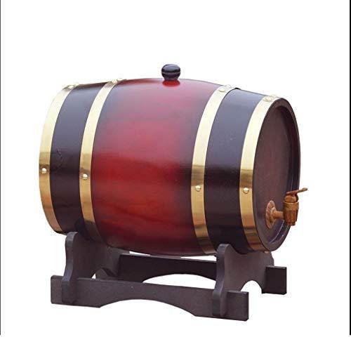 Botte Vino Portabottiglie in legno, Legno vintage Botte di invecchiamento in legno di quercia Botte di whisky Pratico e resistente, Può essere usato per vinificazione o archiviazione birra Liquore Bra