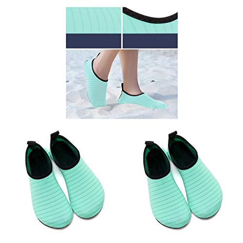 harayaa 2 Pares de Zapatos Deportivos Acuáticos Antideslizantes, Zapatillas de Baño para Pies