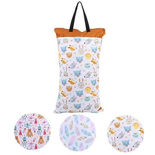 Baby Wickeltasche Hohe Kapazität Hängen Wasserdichte Wet Dry Tuch Windeln Taschen Wiederverwendbare Waschbar Aufbewahrungstasche(EF160)
