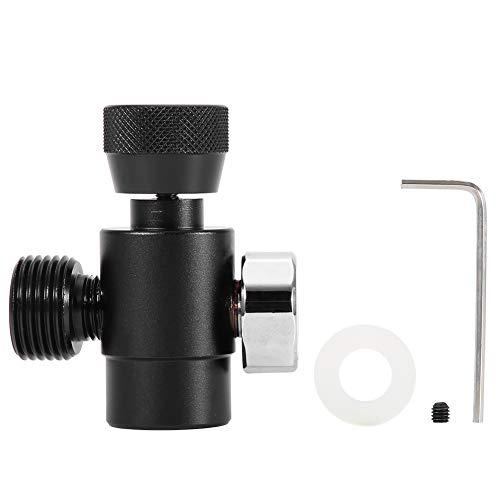 Jeffergarden CO2-Füllbehälter-Nachfülladapter-Anschlusskit (#1: Black Adapter with Meter)