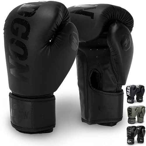 Martial Guantes de Boxeo Hechos del Mejor Material para Larga Durabilidad – Guantes de Kick Boxing, Guantes de Artes Marciales, Guantes MMA y Sparring - Óptima Absorción de Impactos – Bolsa Incluida