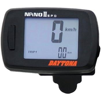 デイトナ バイク用 デジタルスピードメーター 表示範囲0~399km/h 60×40×17.5mm NANO2 78596