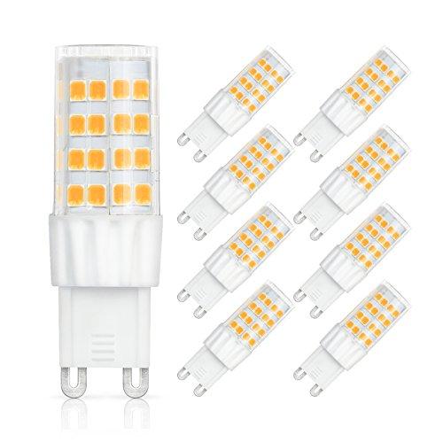 G9 LED Lampe, SHINE HAI 9er Pack, G9 LED warmweiss, 6W G9 LED Leuchtmittel Ersatz für 45W G9 Halogen, G9 LED Birnen Warmweiß 3000K, 450 Lumen Nicht Dimmbar 360° Abstrahlwinkel AC220-240V CRI >80