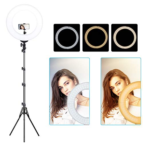 14inch Ring Light kit, ZOMEi 14' LED Ringlight with Stand Tripod Carrying Bag, Dimmable Brightness, 2700-5500K for Photography, Selfie, Makeup, Phone/Camera YouTube Video Shooting