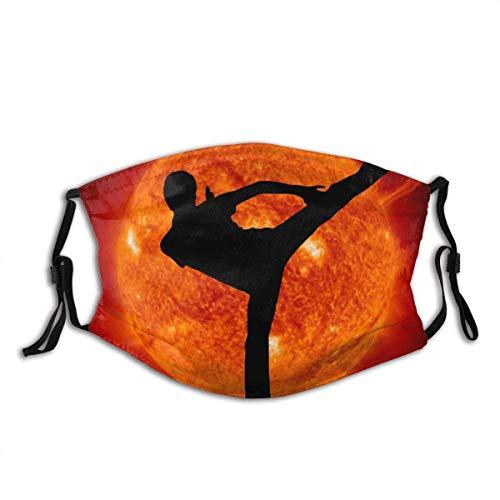 Wiederverwendbar Gesichtsbedeckung,Martial Art Karate Man und Sun Planet Herren Damen Multifunktionstuch Halstuch Kopftuch Bandanas
