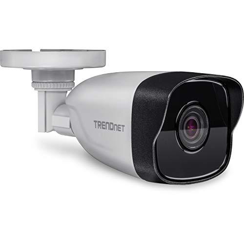 TRENDnet TV-IP328PI Indoor/Outdoor 4 MP, H.265 PoE-Stift-Netzwerkkamera, Wetterschutzklasse IP67, IR-Nachtsicht auf bis zu 30m (98 Fuß)
