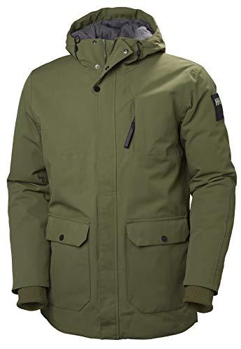 Helly Hansen Men's Urban Waterproof Windproof Breathable Fully Insulated Long Parka Jacket, 491 Ivy Green, Medium