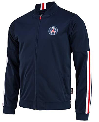 Paris Saint Germain Herren-Jacke PSG, Erwachsenengröße XL blau