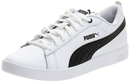 PUMA Damen Smash WNS v2 L Zapatillas, White Black, 40.5 EU